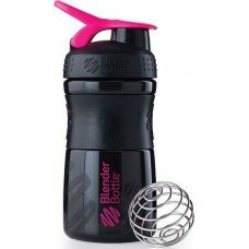 Шейкер Blender Bottle SportMixer MINI (Black-Pink) 590 мл