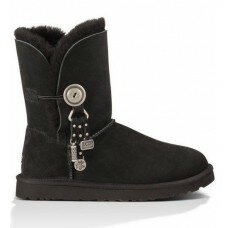 UGG Bailey Button Charm Black